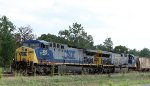 CSX 305 & 603 are on the point of a grain train for AC&W