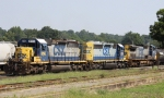 CSX 8196 leads train F741