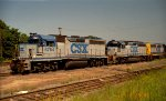 CSX 6794, 6066, and 6358 sit in the yard