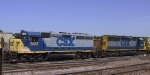 CSX 6137 & 8107 sit in the yard
