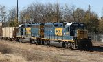 CSX 6097 & 6127 sit in the yard on Thanksgiving Day