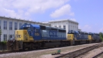 CSX 8153 leads a trio of 3000 hp units