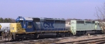 CSX 8160 sits with a leaser in the yard