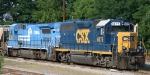 CSX 6075 & 5963 sit in the yard