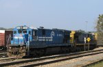 CSX 7131 & 7073 sit outside the yard office