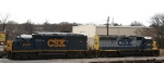 CSX 6392 & 6127 spend New Year's Day near the turntable