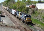 CSX 8576 & 8596 lead a train at Boylan Junction