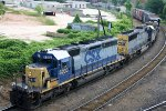 CSX 8203 & 8551 lead a southbound train towards Boylan