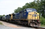 CSX 7839 & 7626 are towing AMTK 69 to Hamlet with their train
