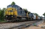 CSX 7379 leads train F742
