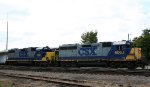 CSX 6068 & 2512 sit by the yard office