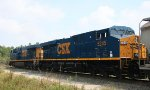 CSX 5203 & 5245 lead train F742 northbound, out of the yard