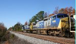 CSX 7357 & 7888 lead train F741 to Hamlet