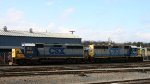 CSX 6153 & 6144 sit in the yard on Christmas Day