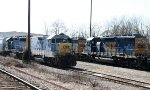 CSX 2219 sits with other units in the yard