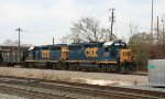 CSX 6115 & 6362 lead train F729 at D&S Junction