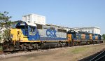 CSX 6357, 6362, and 2705 sit in the yard