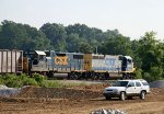 CSX 6393 & 2765 at the north end of the yard