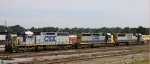 CSX 8418 is part of a 6 axle trio in the yard