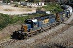 CSX 8090 & 8305 lead train F741 southbound at Boylan