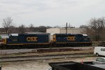 CSX 2294 & 6460 sit by the old roundtable on Christmas day