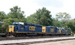 CSX 6928, 2273, and 2786 sit in the siding