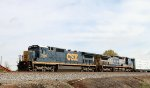 CSX 7599 leads train F741-10 southbound