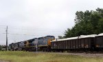 CSX 3360 is the last of 3 GE's powering a loaded coal ash train