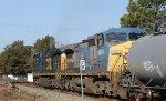 CSX 7755 & 9004 lead train F741-16 southbound