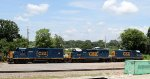 CSX 2043, 6929, and 2278 sit by the old SAL turntable