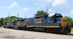 CSX 2278, CSX 6929, and CSX 2043 sit beside the turntable