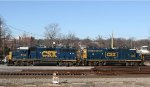 CSX 6147 & 6559 sit beside the old turntable