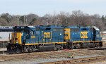 CSX 6559 & 6037 sit in the yard