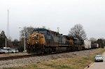 CSX 264 leads train F741-19 through town