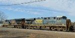 CSX 3351 & 5318 are power for train F741-17