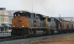 CSX 4842 leads a southbound grain train