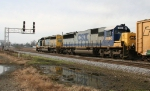 CSX 8150 leads a southbound freight