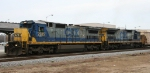CSX 7535 leads sister 7542 on a southbound freight