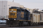 CSX 6031 leads train Y122 back to the yard