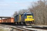 CSX 6971 & 2371 lead train F017-05 towards the yard