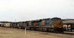 CSX 836 leads train Q400-09 northbound