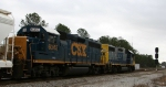 CSX 6363 & 2772 lead a train into Collier Yard on a restricted signal