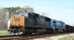 CSX 788 & lease unit hold the siding at Battle