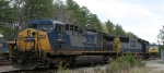 CSX 77 & 8741 sit outside the yard office