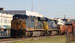 CSX 734 & 7394 lead train Q405-05 southbound