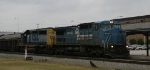 CSX 7316 leads train F774 north on an overcast morning