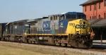 CSX 24 leads a lease unit north on train Q446