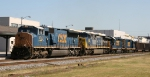 CSX 4747 leads an assortment of units on train U324