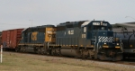 HLCX 8179 leads CSX 8110 northbound out of town