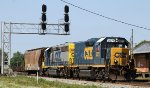 CSX 2371 leads train Y122 past the signals at Charlie Baker